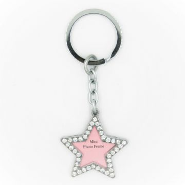 Diamonte star key ring